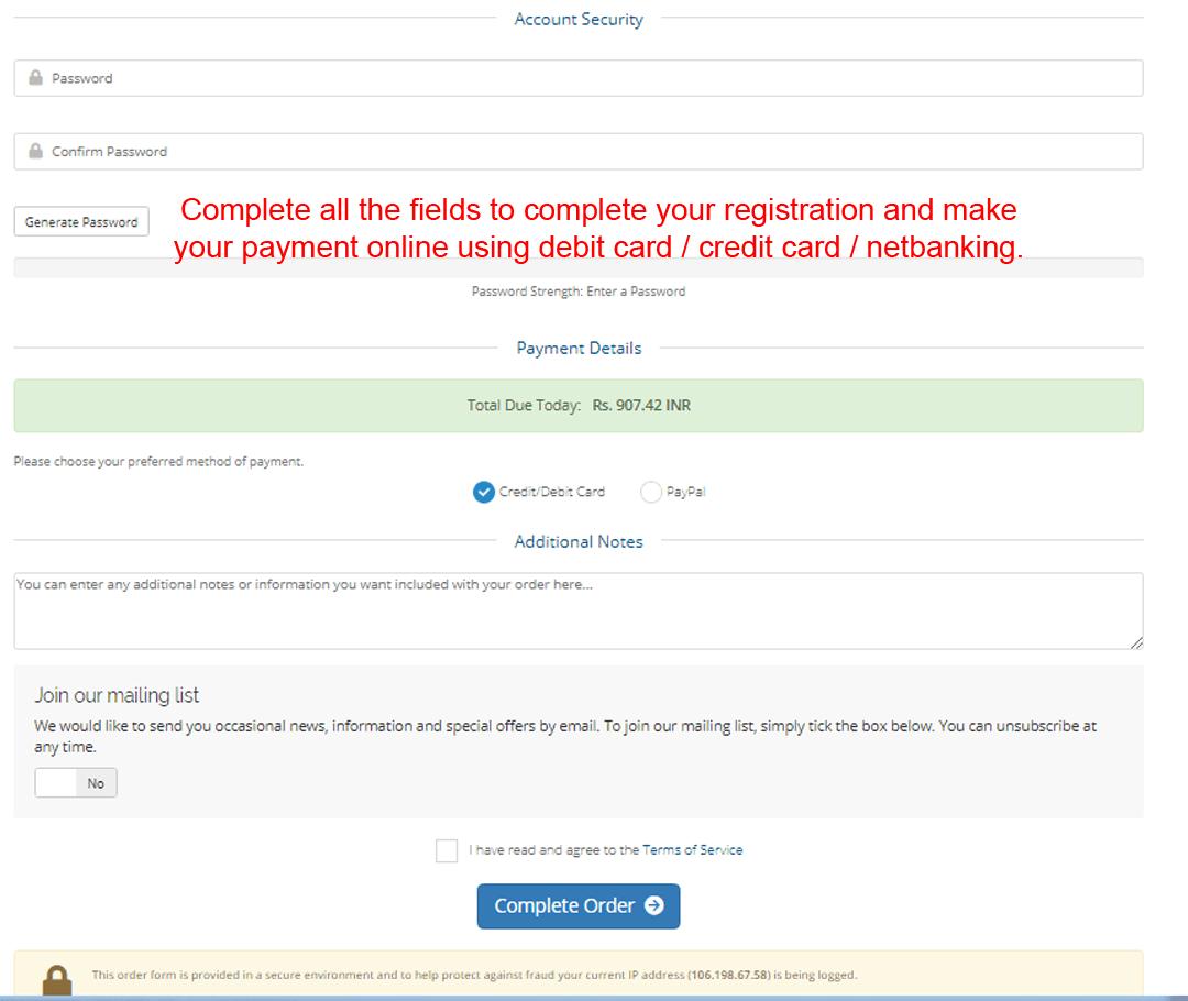 Finalize Domain Registration