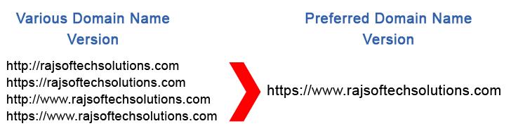 Preferred Domain Name Version